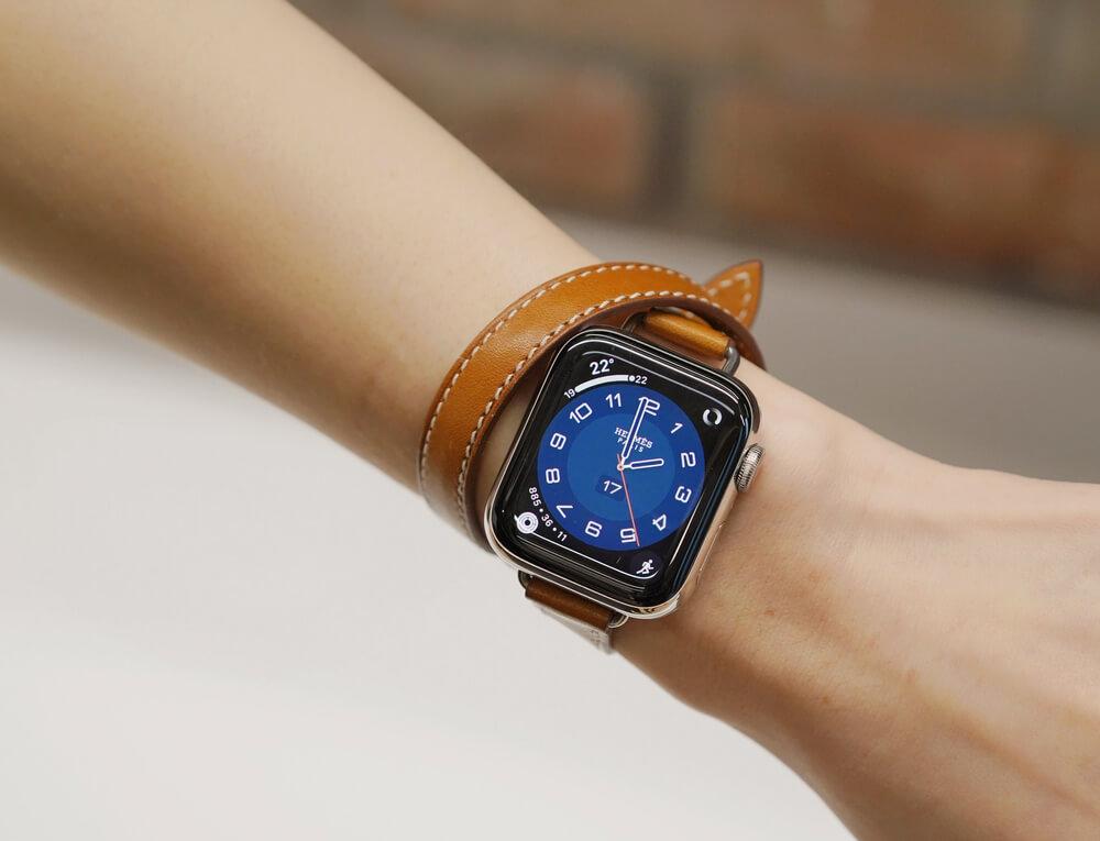apple watch 6 bracelet en cuire